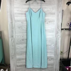 J. Crew Teal Side Slit Sleeveless Maxi Dress